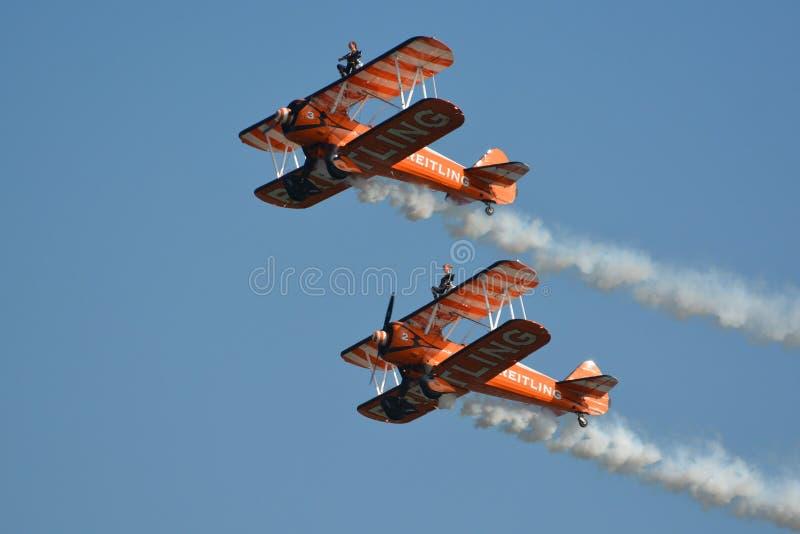 Breitling Wingwalkers στοκ εικόνα με δικαίωμα ελεύθερης χρήσης