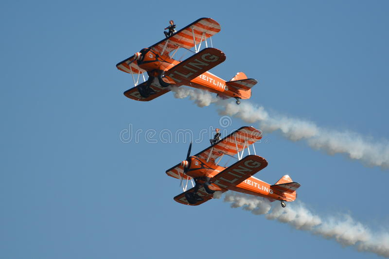 Breitling Wingwalkers royalty free stock image