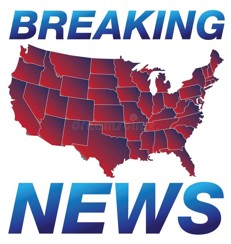 Brekend Nieuws vector illustratie