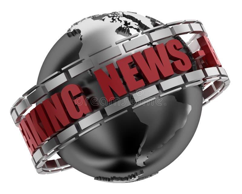 Brekend Nieuws royalty-vrije illustratie