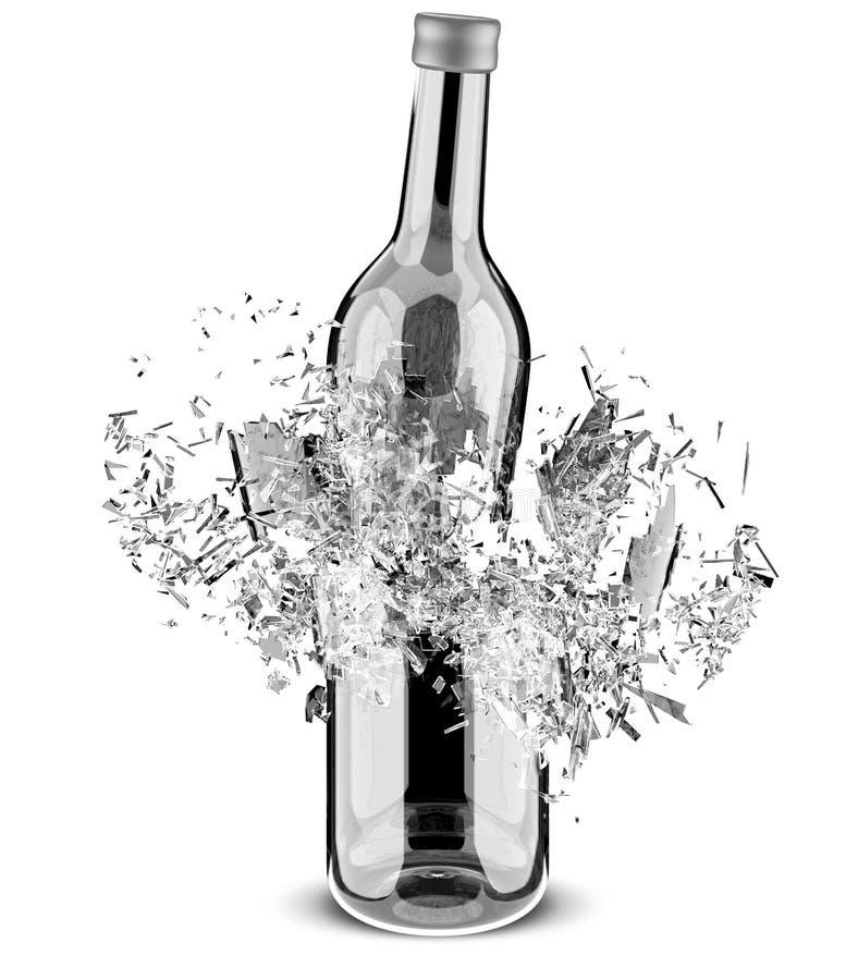 Brekende fles vector illustratie