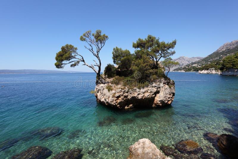 brela Croatia wyspy skała zdjęcia stock