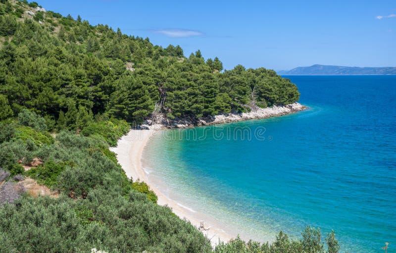 Brela, Makarska la Riviera, Dalmatie, Croatie photographie stock