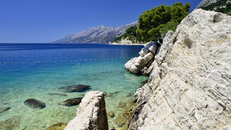 Brela na Makarska Riviera, Dalmatia, Chorwacja obraz stock