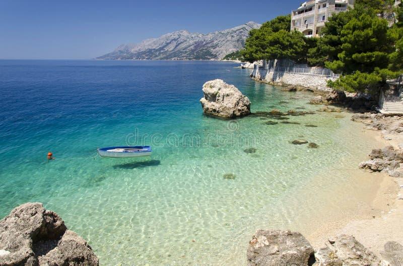 Brela na Makarska Riviera, Dalmatia, Chorwacja fotografia royalty free