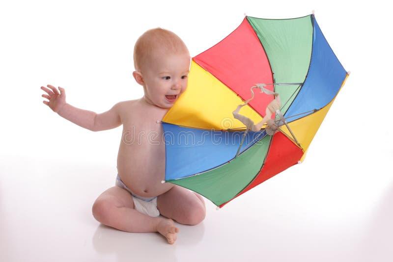 brella 2 младенцев стоковая фотография