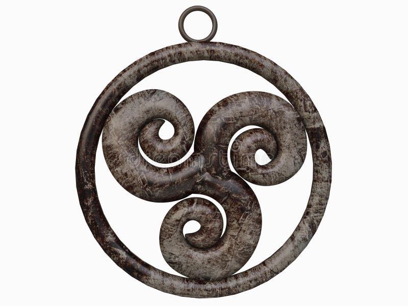Breloczek Triskelion celta symbol royalty ilustracja