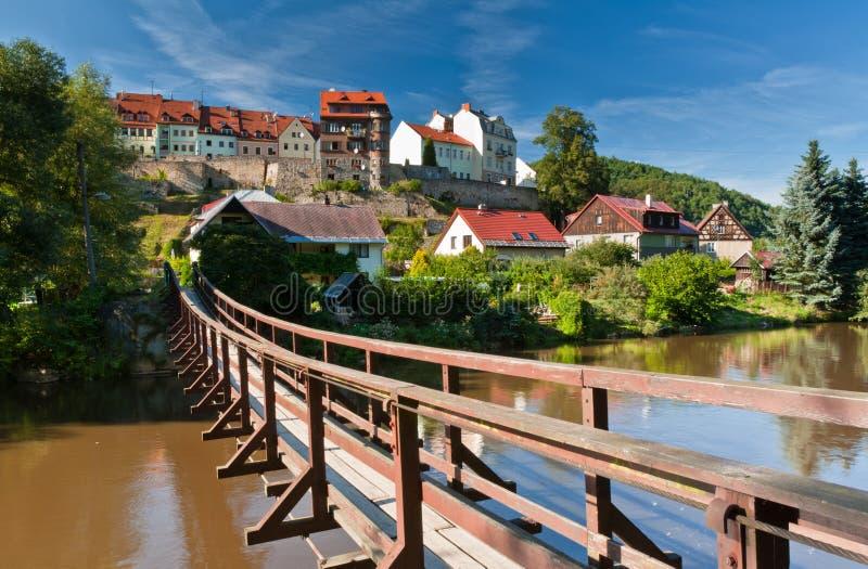 Breloczka most, Loket, Republika Czech fotografia stock