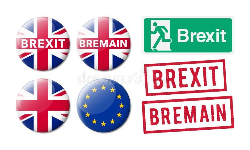 Bremain Brexit απεικόνιση αποθεμάτων
