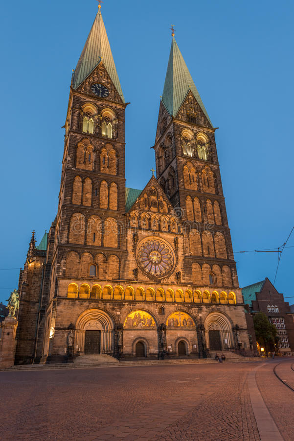 Bremen, Germany. 07. July 2013: Bremen City View at Sunset. HDR Look royalty free stock photo