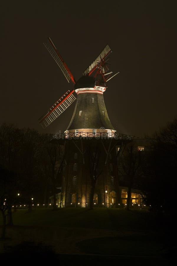 bremen germany väggwindmill arkivfoto