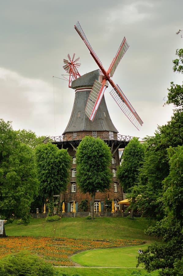 bremen germany windmill royaltyfri foto