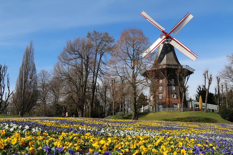 bremen germany windmill royaltyfri fotografi