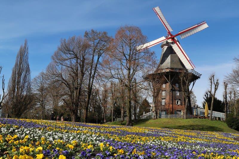 bremen germany windmill royaltyfria bilder