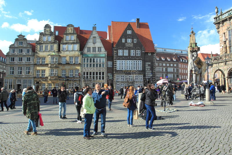 Bremen. Market square in Bremen, Germany royalty free stock images