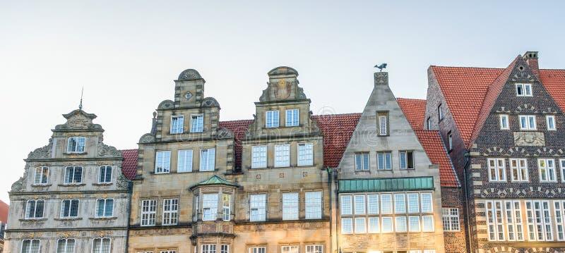 Bremen miasta ulicy na pięknym słonecznym dniu zdjęcie stock