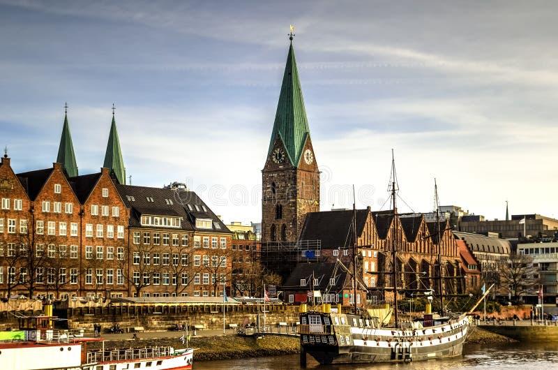 Bremen nabrzeże, Niemcy obrazy stock