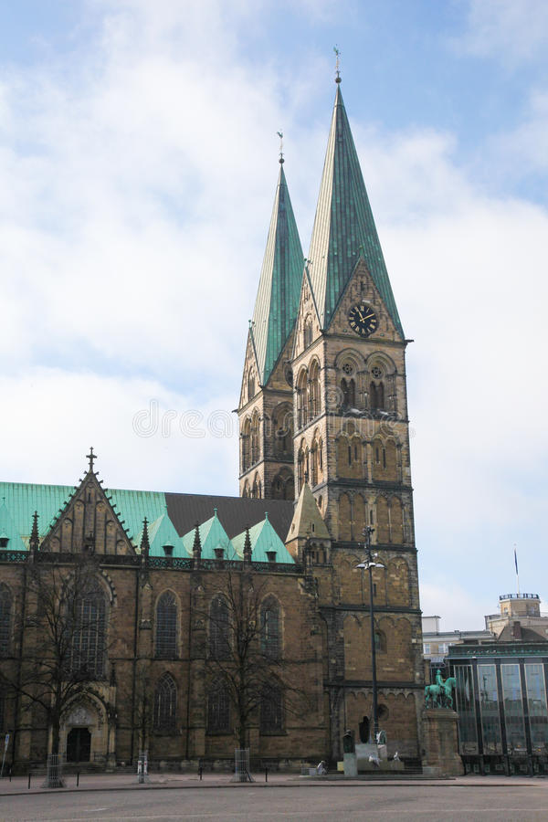 Bremen. Saint Peters cathedral in Bremen, Germany royalty free stock photography