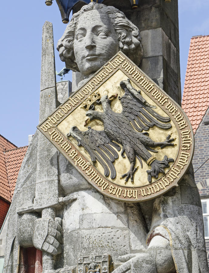 Bremen. The statue of Roland in Bremen, Germany royalty free stock photography
