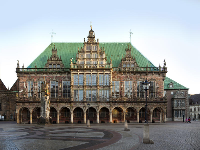 Bremen Town Hall. Town hall of the Free and Hanseatic City of Bremen, Germany stock photography