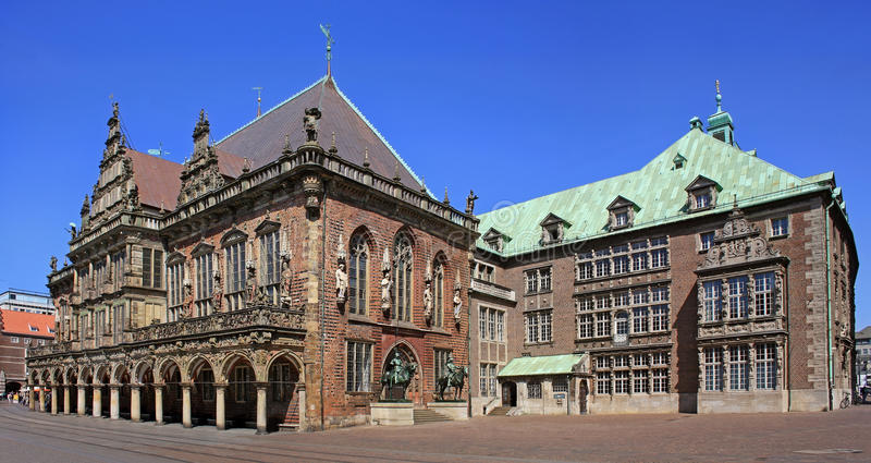 Bremen town hall. Old town hall building in Bremen stock image