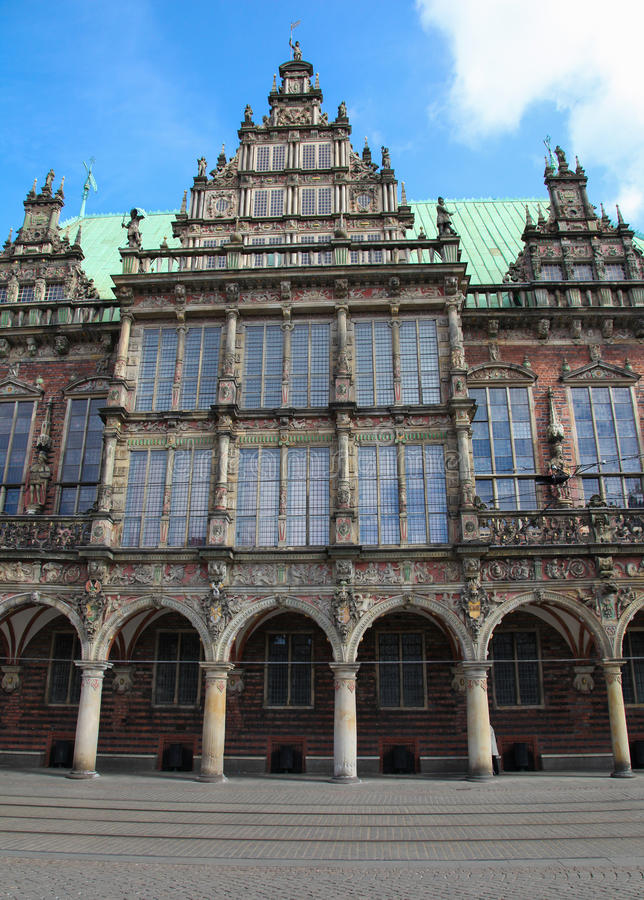 Bremen. Town hall or rathaus in Bremen, Germany royalty free stock photo