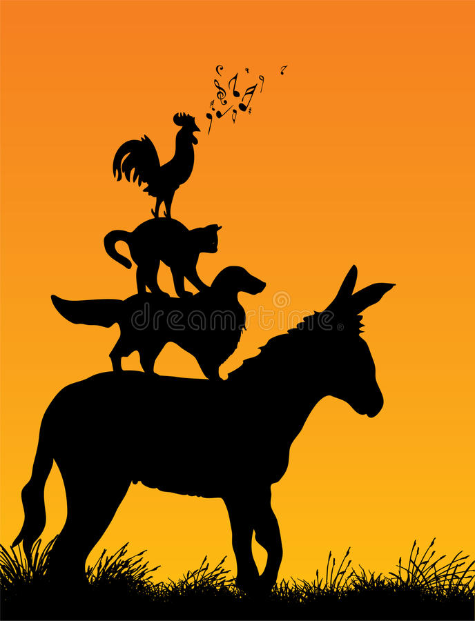 Download Bremen Town Musicians Royalty Free Stock Image - Image: 12458946