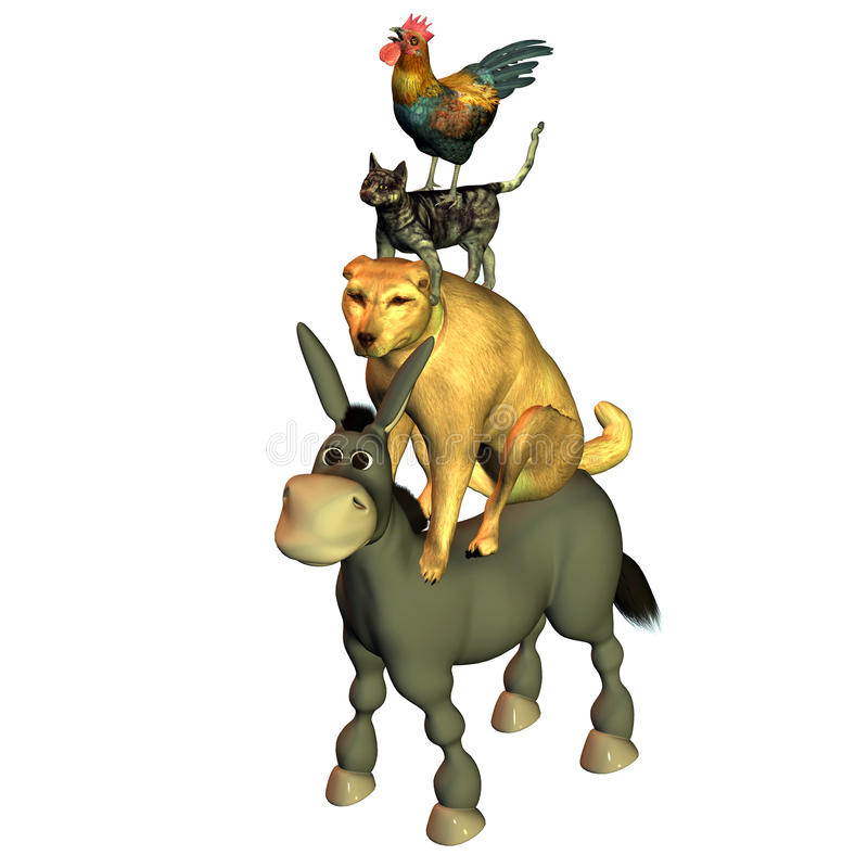 Of Bremen town musicians royalty free stock photography