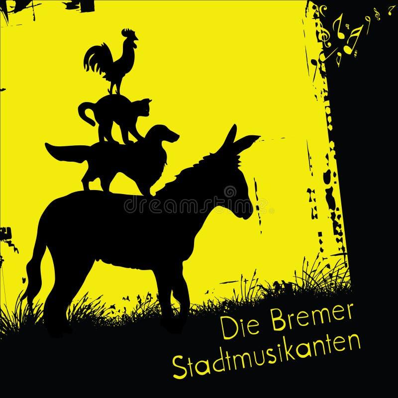Bremen Town Musicians vector illustration