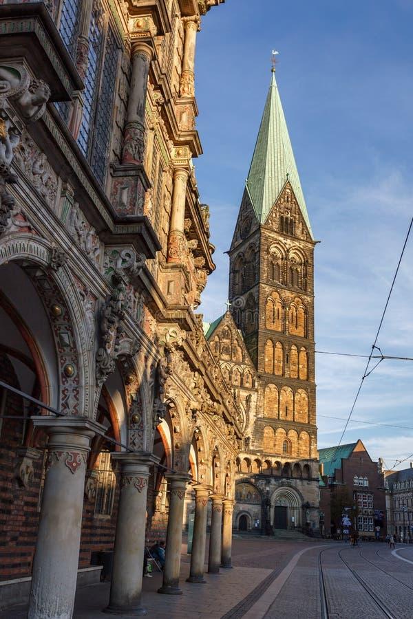 Bremen urząd miasta Niemcy obraz stock
