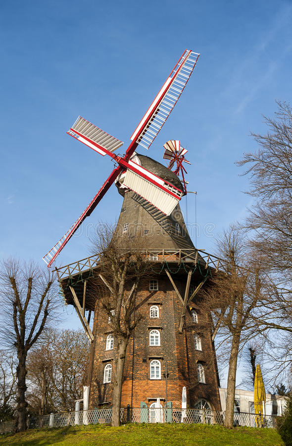 bremen windmill royaltyfri bild