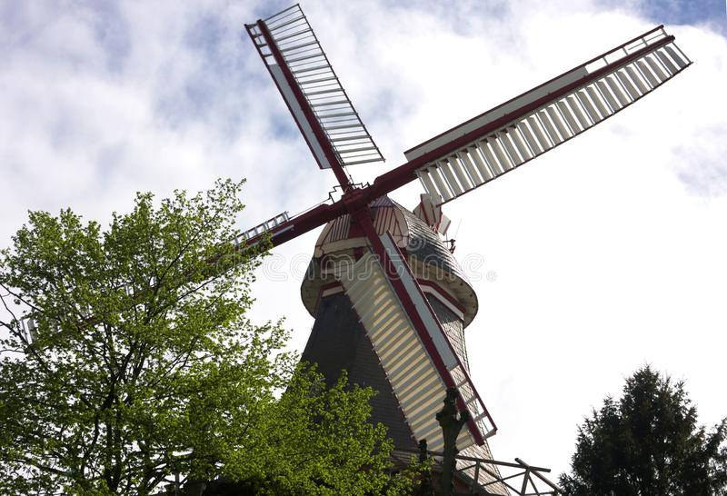 Bremen - windmill at ramparts - II -. The Bremen ramparts were part of the Bremen city fortifications and emerged from the fortifications built until the 17th royalty free stock photos