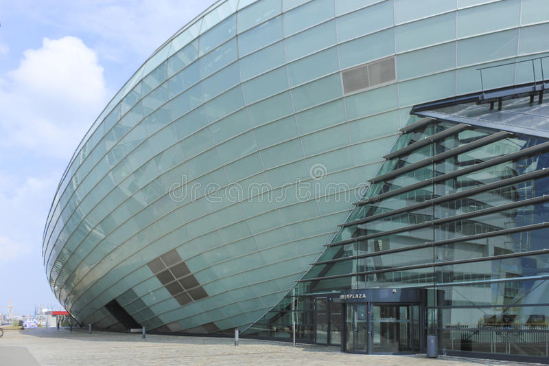 Bremerhaven, Germany. Modern building in Bremerhaven, Germany royalty free stock images