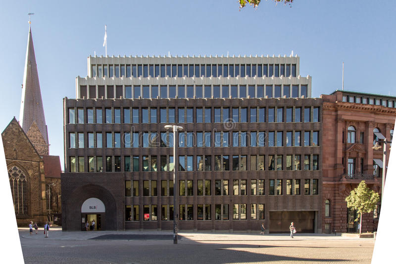 Bremer Landesbank. Architektur royalty free stock photography