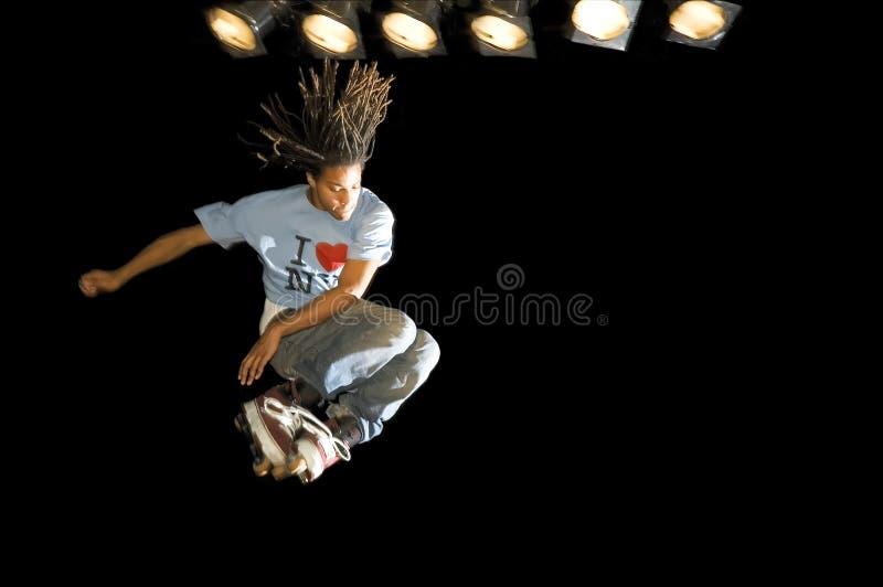 Bremsungs-Schlittschuhläufer lizenzfreie stockfotografie