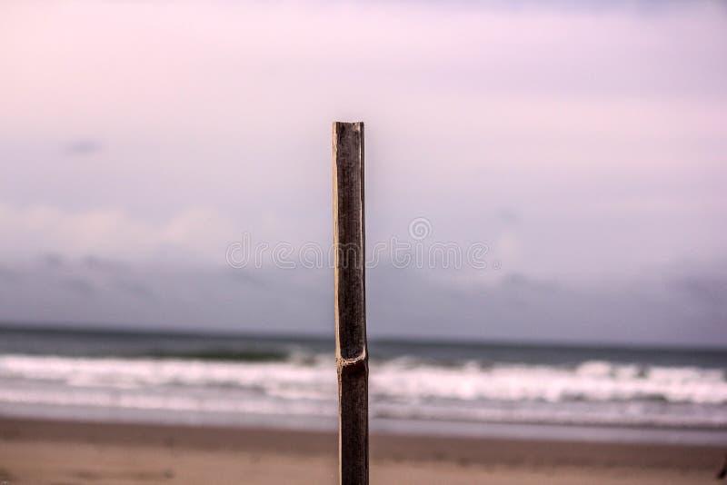 Brench auf dem noch stehenden Strand lizenzfreies stockbild
