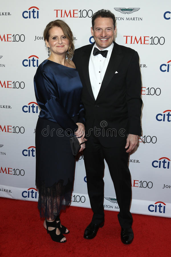 Brenda Battista, Rich Battista. Brenda Battista L and Time Inc. CEO Rich Battista attend the Time 100 Gala at Frederick P. Rose Hall on April 25, 2017 in New royalty free stock images