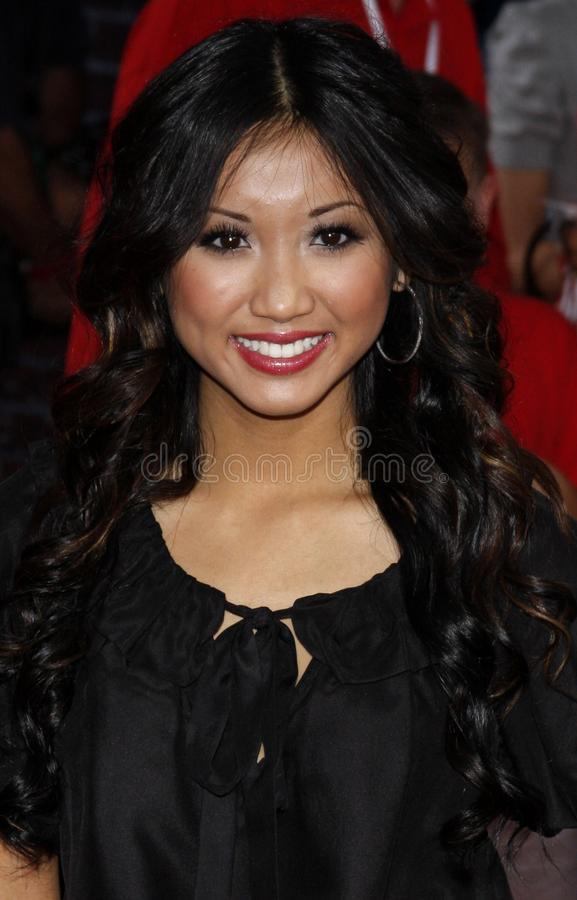 Brenda Song. At the Los Angeles premiere of `High School Musical 3: Senior Year` held at the Galen Center in Los Angeles, USA on October 16, 2008 royalty free stock photos