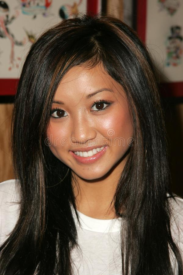 Brenda Song. At a Celebrity Autograph Session of Ed Hardy T-Shirts specifically designed after the devastation of Katrina to raise Donations for the American stock photo