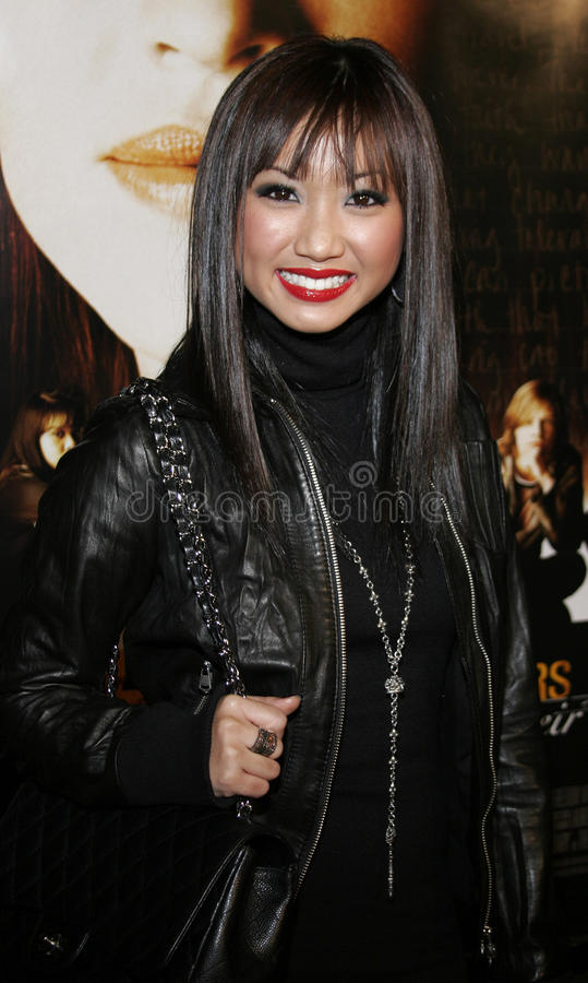 Brenda Song. WESTWOOD, CALIFORNIA. Thursday January 4, 2007. Brenda Song attends the Los Angeles of `Freedom Writers` held at the Mann Village Theater in royalty free stock photography