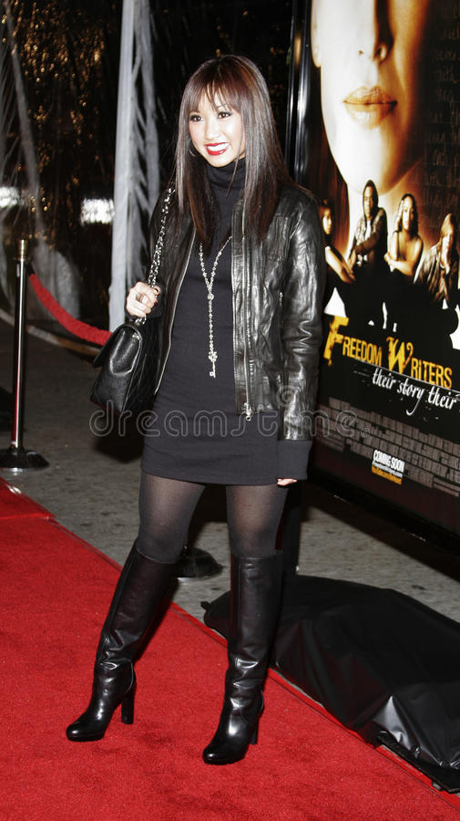 Brenda Song. WESTWOOD, CALIFORNIA. Thursday January 4, 2007. Brenda Song attends the Los Angeles of `Freedom Writers` held at the Mann Village Theater in stock photography