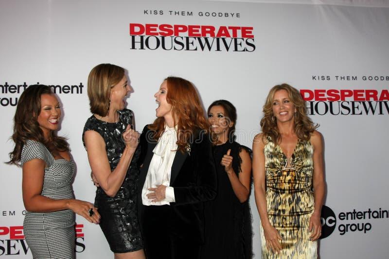 Brenda stark, Eva Longoria, Felicity Huffman, Marcia Cross, Vanessa L Williams lizenzfreie stockfotografie