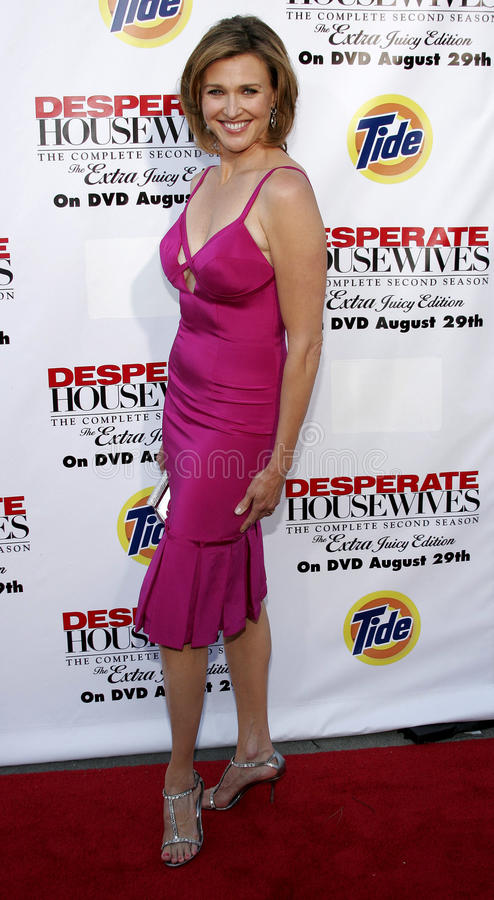 Brenda Strong. At the Desperate Housewives: Extra Juicy Edition Season 2 DVD Launch held at the Wisteria Lane Universal Studios in Hollywood, USA on August 5 stock photos
