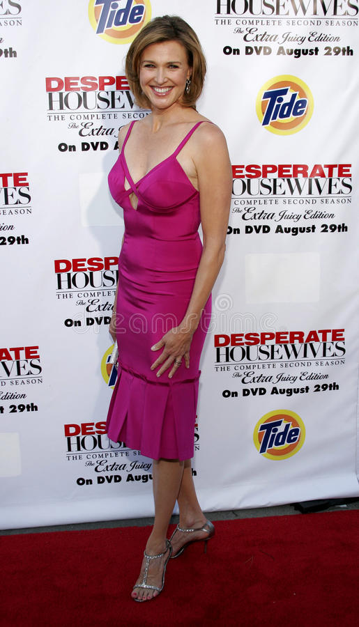 Brenda Strong. At the Desperate Housewives: Extra Juicy Edition Season 2 DVD Launch held at the Wisteria Lane Universal Studios in Hollywood, USA on August 5 royalty free stock image