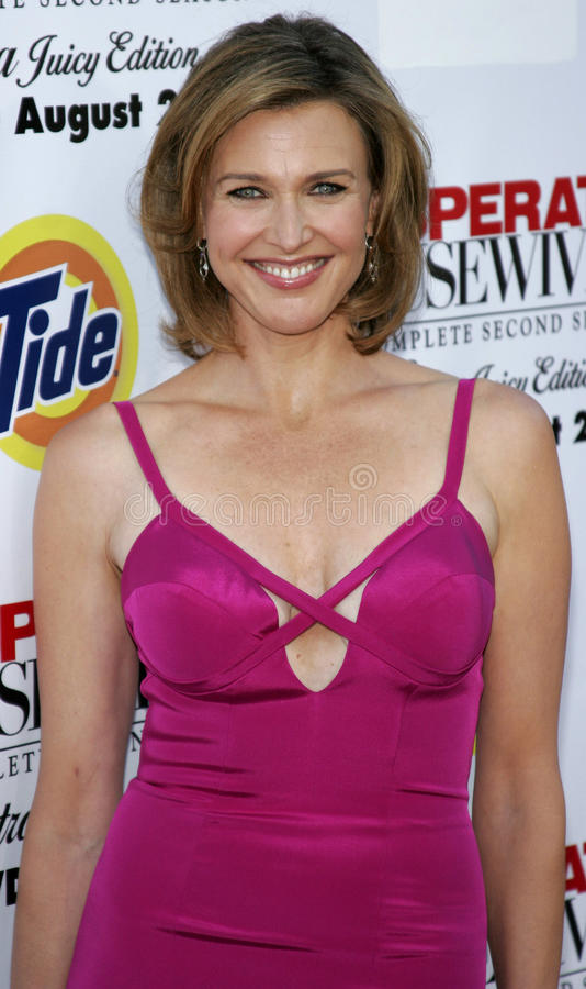 Brenda Strong. At the Desperate Housewives: Extra Juicy Edition Season 2 DVD Launch held at the Wisteria Lane Universal Studios in Hollywood, USA on August 5 royalty free stock images