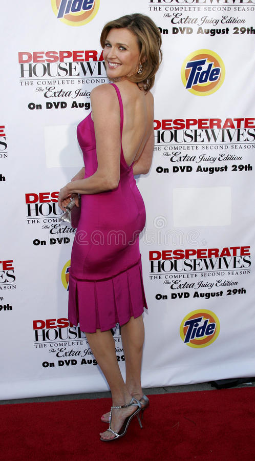 Brenda Strong. At the Desperate Housewives: Extra Juicy Edition Season 2 DVD Launch held at the Wisteria Lane Universal Studios in Hollywood, USA on August 5 royalty free stock photos