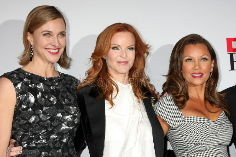 Brenda Strong, Marcia Cross, Vanessa L. Williams. LOS ANGELES - SEPT 21: Brenda Strong, Marcia Cross, Vanessa L. Williams arriving at the Desperate Housewives stock photography