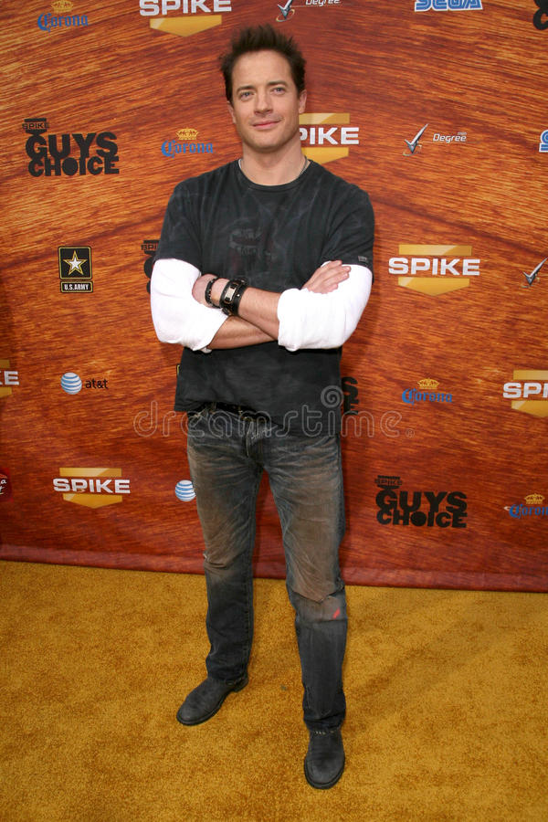 Brendan Fraser. At Spike TV's 2nd Annual Guys Choice Awards. Sony Pictures Studios, Culver City, CA. 05-30-08 royalty free stock image