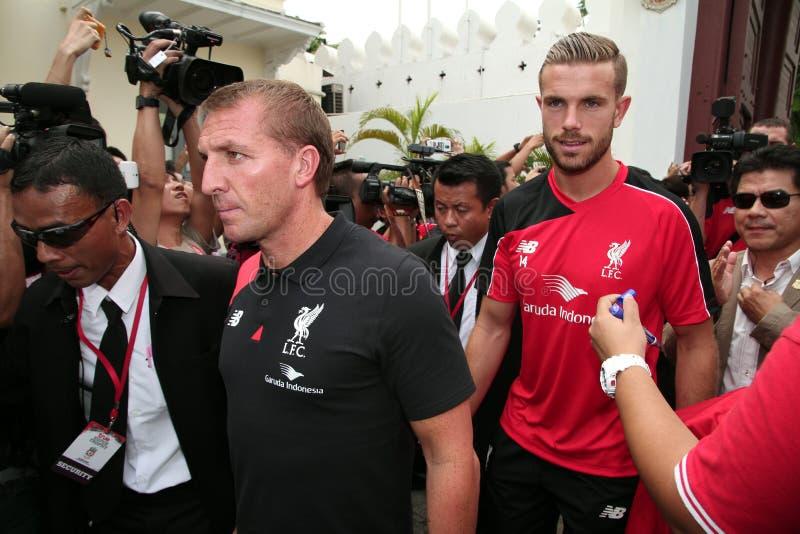Brendan Rodgers Manager de Liverpool imagenes de archivo