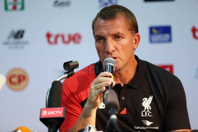 Brendan Rodgers Manager von Liverpool stockfotos